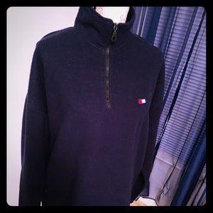 Tommy Hilfiger Navy Fleece Pullover Medium